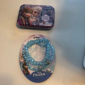 Frozen cotton balls and bracelet
